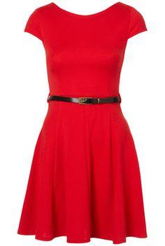 Sleeveless Skater Dress by Rare - Topshop - £32