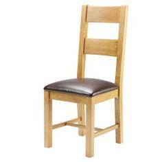 #DiningRoom Furniture: Oak dining #chair - padded seat