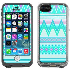 Skin Decal for LifeProof Apple iPhone 5C Case - Aztec Andes Tribal White and Teal Design TrekSkins http://www.amazon.com/dp/B00LMGHCY8/ref=cm_sw_r_pi_dp_HCEkub0HP2G46