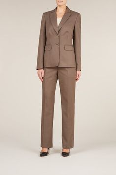 Women's Skirt suit with twill pencil skirt and matching jacket ...