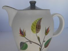 Vintage Denby Spring Stoneware Coffee Pot by by StoreFourandMore