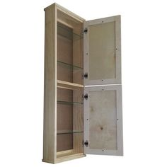 """WG Wood Products Shaker Series 15.25"""" x 49.5"""" Wall Mounted Linen Tower"""