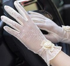 Women's Lace Gloves - Various Designs and Colors Available