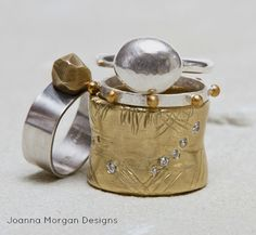 new and older ring designs by Joanna Morgan Designs #jewelry #fashion www.joannamorgandesigns.com