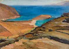 Bonhams Fine Art Auctioneers & Valuers: auctioneers of art, pictures, collectables and motor cars Greece Painting, Create Drawing, France Art, 10 Picture, Greek Art, Greek Islands, Contemporary Art, Canvas Art, Nature