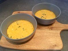 Gele paprikasoep met mascarpone en pesto – Sport Foodblog