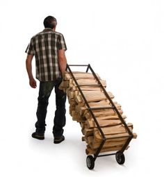 Truck wood storage cart from spacelighting.com