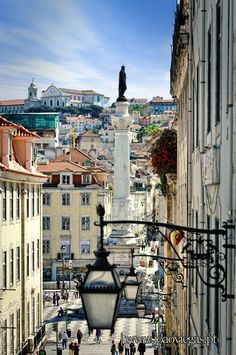 Charming streets and squares of old Lisbon, Portugal