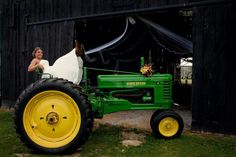 Country wedding. John deere  Photo by Amy Horn Photography