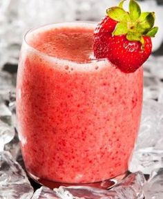 Great strawberry smoothie recipes made with low-fat and non-fat milk.