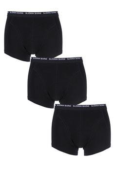 Mens 3 Pack Bjorn Borg Basic Cotton Short Shorts In Black £35.99