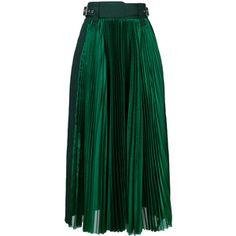 Sacai micro pleated midi skirt