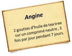 huile tea tree angine                                                                                                                                                                                 Plus