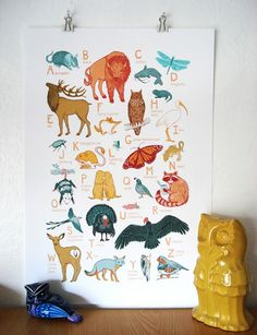 own this and adore it! ABC Animal Print - Oklahoma Animals ($20, Jen Oaks Illustration)