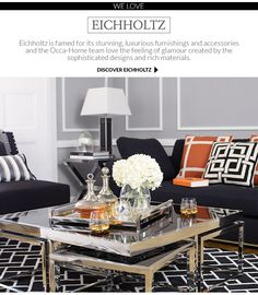 Beautifully Crafted Eichholtz Coffee Table Styling Decorating Tables Living Room Lounge Glam