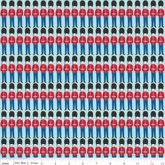 Riley Blake Designs - British Invasion - British Soldiers in Blue
