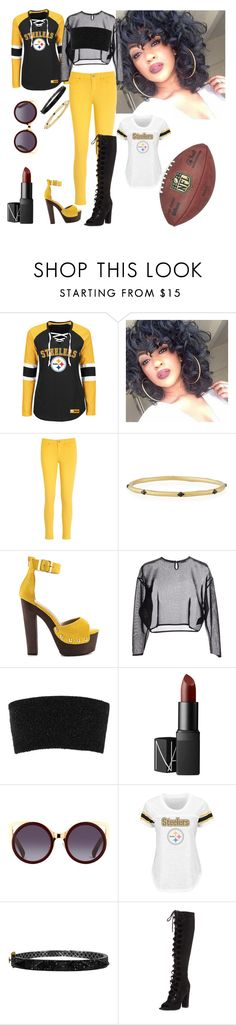 """""""Pittsburgh Steelers"""" by denibrad ❤ liked on Polyvore featuring Tommy Hilfiger, Armenta, Luichiny, Yves Saint Laurent, Calvin Klein Collection, NARS Cosmetics, Plukka and Kendall + Kylie"""