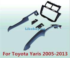81.00$  Buy now - http://alim4s.worldwells.pw/go.php?t=32292958589 - Black 2 Din Car Frame Dash Kit / Car Fascias / Mount Bracket Panel For Toyota Yaris 2005 2006 2007 2008 2009 2010 2011 2012 2013