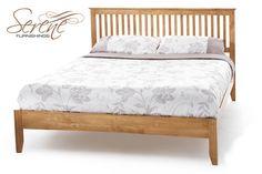 Serene Freya Honey Oak Wooden Bed Frame