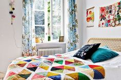 my scandinavian home: A happy Swedish home with bright colours and bold prints