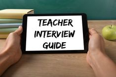 How to succeed in your teacher interview. Frequently asked teaching interview questions and answers. The best tips for getting the job you want. Principal Interview Questions, Teaching Job Interview, Teacher Interviews, Interview Guide, Interview Questions And Answers, Teaching Jobs, Teacher Assistant, Assistant Jobs, Jobs For Teachers