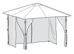 Here at Gazebo Spare Parts weu0027re not only trying to expand our range of  sc 1 st  Pinterest & Replacement Canopy for Homebase Panama Gazebo | www ...