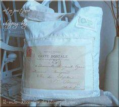 retro postcard recycled shopping bag