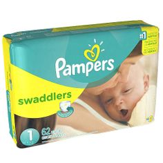 "Pampers Swaddlers Size 1 Diapers Mega Pack - 62 Count - Procter & Gamble  - Babies""R""Us $18.99"