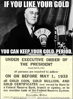 Another Democrat who took American's gold...