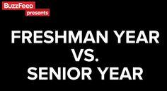 Video: College Freshman Year vs. Senior Year | Surviving College