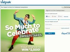 Valpak So Much to Celebrate Sweepstakes