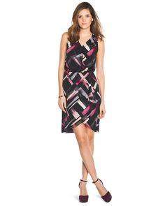 White House | Black Market Printed Wrap Dress #whbm