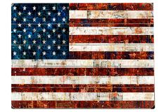 Make this out of pallets and paint it myself...American Flag Collage on OneKingsLane.com