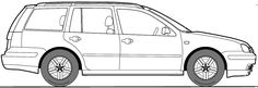 Volkswagen Golf IV (Mk4/A4/1J) Variant templates views