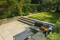 Urban Garden Design Contemporary Family Garden Design in St Johns Wood Designed and Constructed by The Garden Builders London Urban Garden Design, Contemporary Garden Design, Small Garden Design, Contemporary Landscape, Landscape Design, Contemporary Stairs, Landscape Pics, Modern Design, English Garden Design