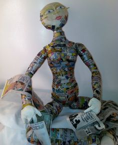 Bookend Doll Comic book style by DollDesignsbyMLynn on Etsy, $65.00