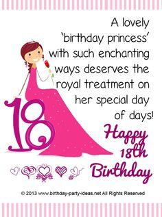 HAPPY 18TH BIRTHDAY CHERYL MUCH LOVE AUNTEE DEEDEEE Happy 18th Birthday Quotes Singing
