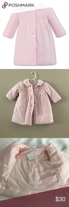 NWT Dani by Sarah Louise Pink Baby Girl Coat Softest coat for your precious baby. Embellished at color and bodice. Dani by Sarah Louise Jackets & Coats