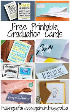 free printable graduation cards and money holders