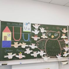 Uu like Uhu Ulli 🦉🦉🦉🦉🦉🦉🦉🦉🦉🦉🦉🦉. , , , Today we started with the new letter and made a few Uhus to mat Primary Classroom, Primary School, Team Building Activities, Woodland Party, Holiday Cocktails, Elementary Education, Literacy, Life Hacks, Parenting