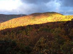 Stone Mountain in the fall in Wilkes County