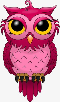 Hand-painted red owl PNG and Clipart Image Chat, Image 3d, Red Owl, Pink Owl, Owl Png, Painted Rocks, Hand Painted, Owl Clip Art, Owl Wallpaper