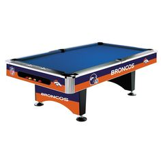 Denver Broncos 8Ft Pool Table By Imperial