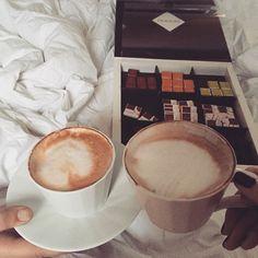 Instagram photo by @________lisunya (LisaPetrenko) | Iconosquare #anotherSunday #rainyDay #loveTheSound of #rainDrops and #weAreBeingLazy #again  #stuckUnderTheBlanket #coffeeInBed #withMyLove #domori #finestChocolate #onlyTheBest#blessed