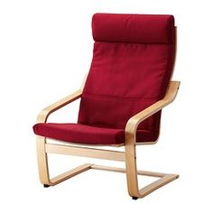 POÄNG Chair - Dansbo medium red, birch veneer - IKEA $99 for red or blue washable cover
