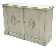 Italian Wall Cabinet With Unique Details In Stucco White Finish Ships Free New #Italian