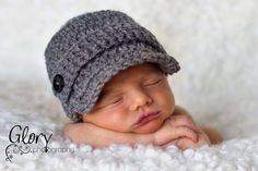 Baby Boy Hat Newborn 03 36 612 month Infant by Sebastianseven, $25.00