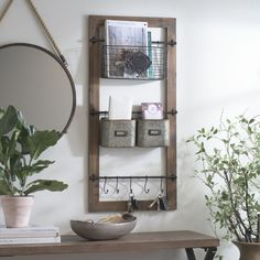 If your New Year's resolution is to stay organized, we've got the perfect piece for you! This wall organizer is a catch-all for keys, mail, magazines, and more. It's easier than ever to keep everything in its place.