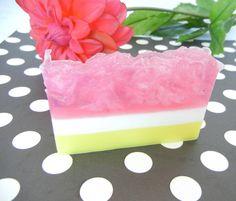 Summer Grapefruit Soap slice. $4.00, via Etsy.