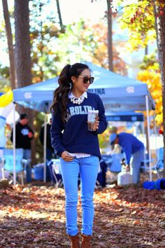 { what to wear to a football tailgate // #UNC }